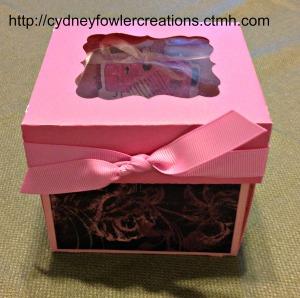 Pretty in pink, sewing kit made with the Artiste CTMH Cricut Cartridge and La Belle Vie paper