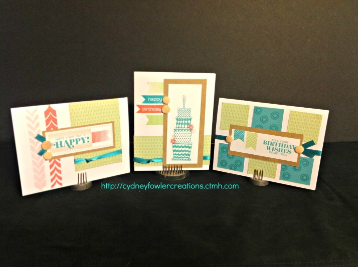 Birthday cards from the Chantilly Workshop on the Go Cards
