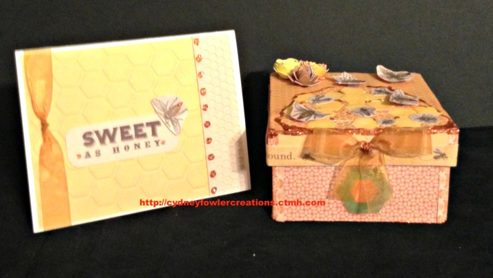CTMH buzz card and gift box pic