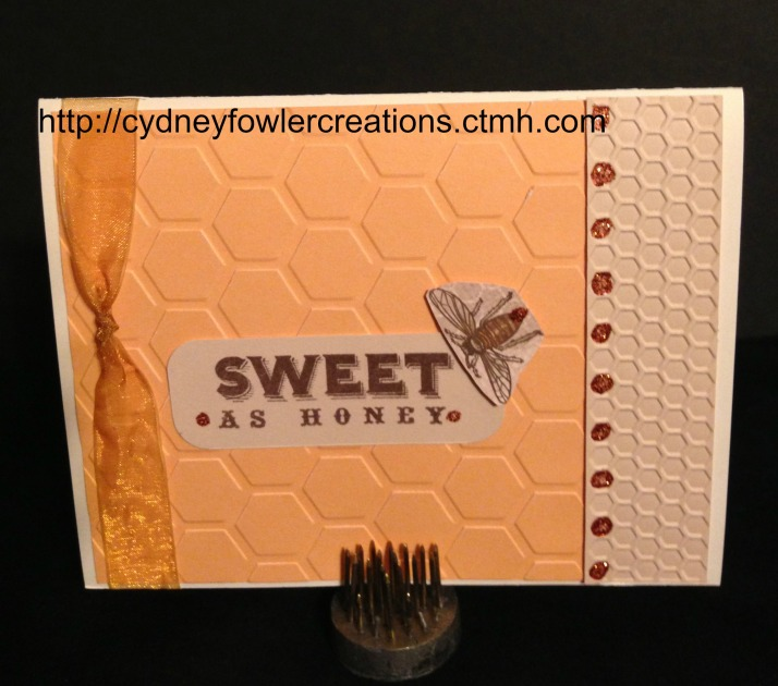 Close up of card front