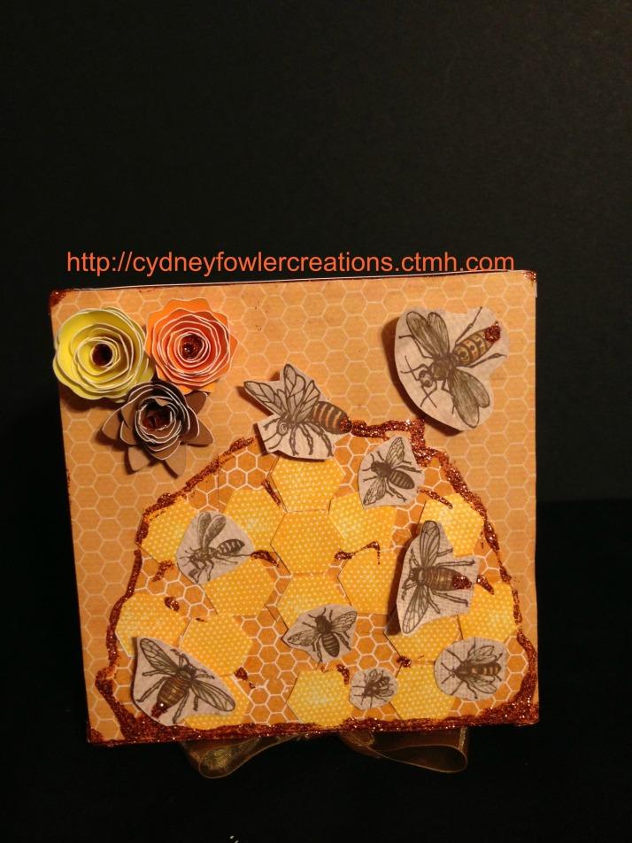 Close up of box top detail