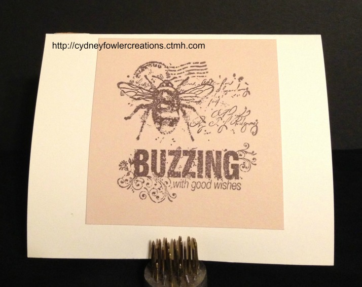I used the Quick Cards - Bumble Bee stamp for the inside greeting