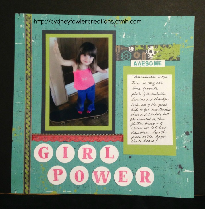 Scrapbook Page using Later Sk8r paper pack