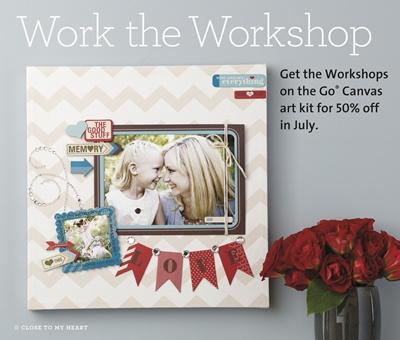 Make your own fabulous canvas art piece using this CTMH kit - discounted 50% - while supplies last!