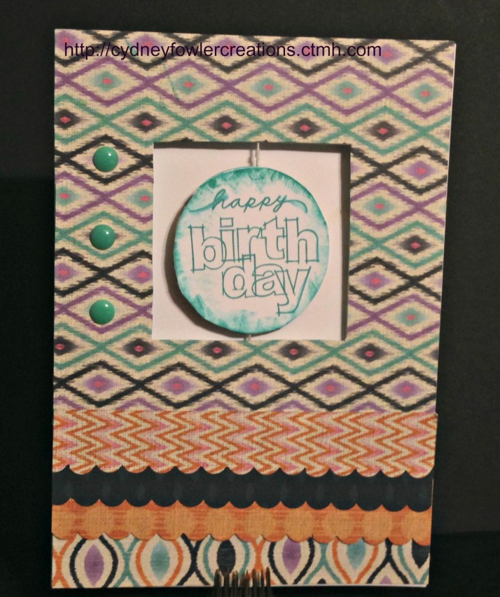 Happy Birthday card using the Sarita paper pack and the spinner card pack