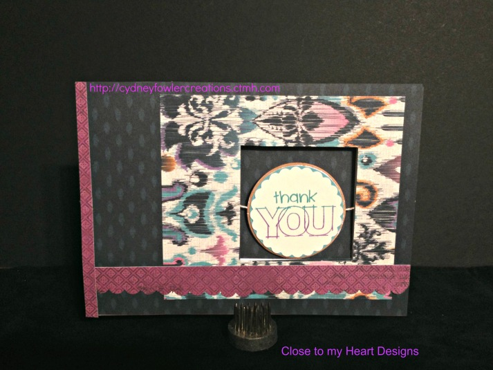 Thank You Card featuring Sarita paper pack - Designs by Close to my Heart