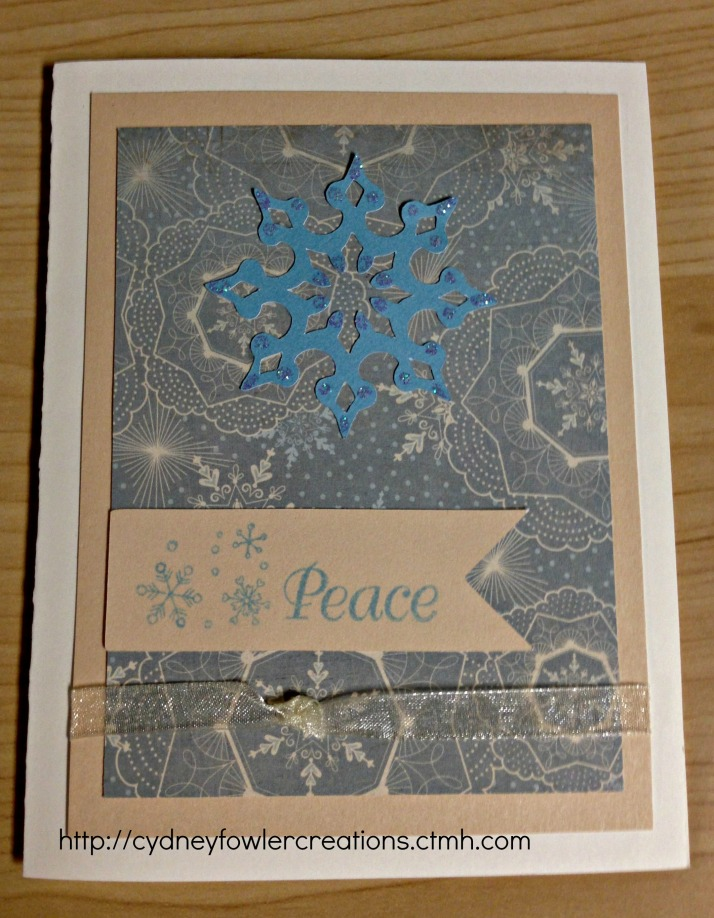 Sparkly snowflake card.