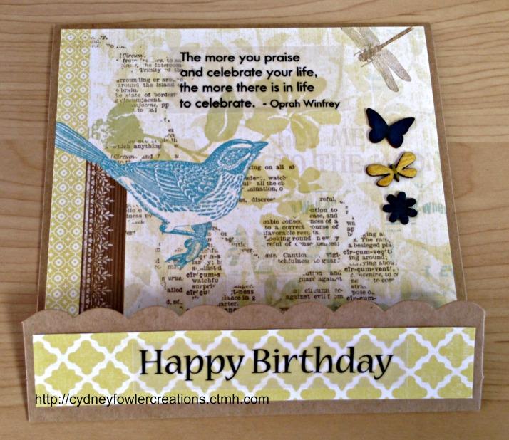 Blue Bird - Happy Birthday