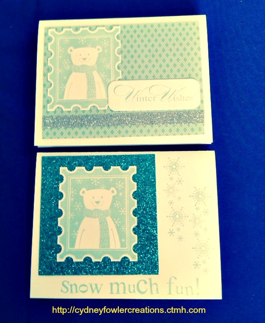 october SOTM polar bear cards pic